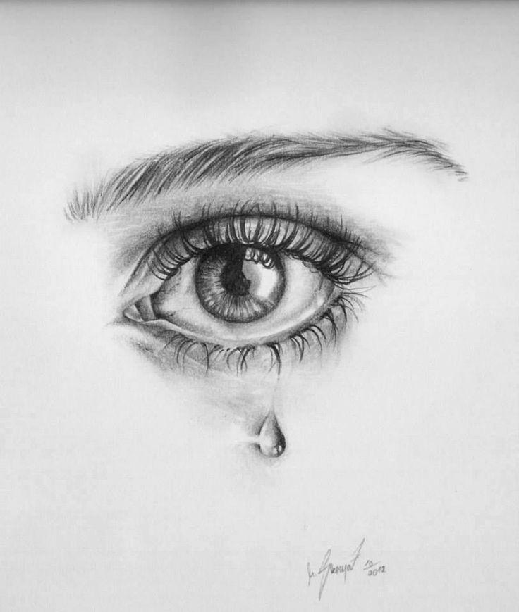 Drawing A Teardrop: Teardrop Eye