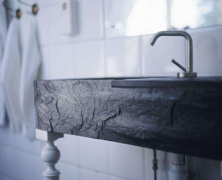 Black shale detail bath at c/o Grythyttan Inn.