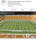 Pittsburgh Steelers Playoff Tickets 50 Yard