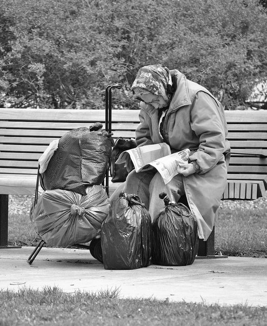 "C'est bientôt l'hiver...  Homeless. ""It is by the failures and misfits of a civilization that one can best judge its weaknesses"""