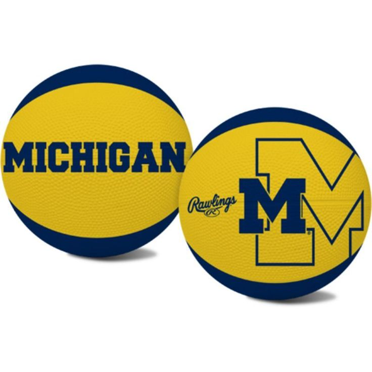 Rawlings Michigan Wolverines Alley Oop Youth-Size Basketball, Blue