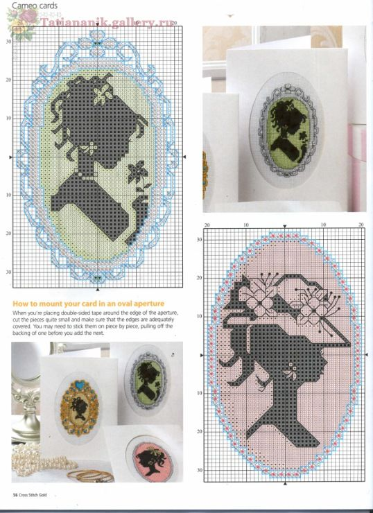 Free cross stitch patterns - Cameos