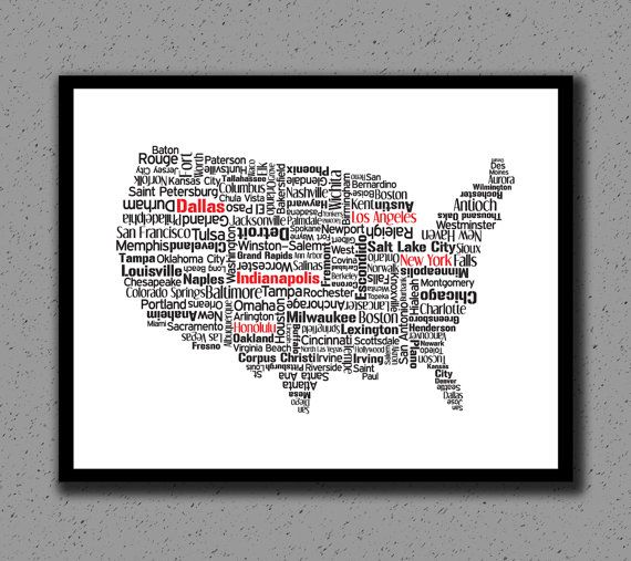 Best State Prints Travel Maps Images On Pinterest Travel - Us map distance