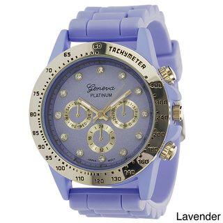 Geneva Platinum Women's Silicone Strap Watch | Overstock.com Shopping - The Best Deals on Geneva Women's Watches