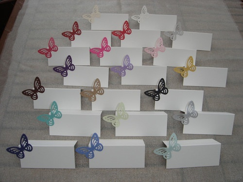 10 BUTTERFLY WEDDING PLACE NAME CARDS YOU CHOOSE COLOUR | eBay