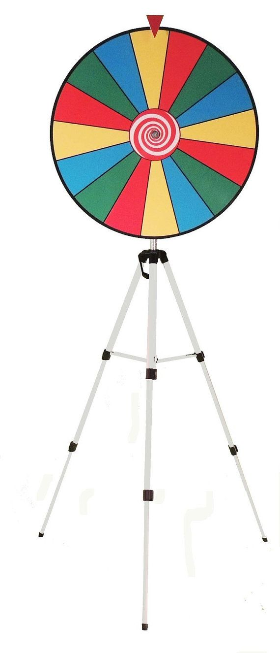 24 Inch Color Spinning Prize Wheel w/Floor stand  USA by Intrigues