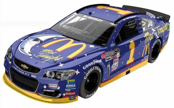 Jamie McMurray retro McDonalds night Darlington Raceway paint scheme released https://racingnews.co/2016/08/15/jamie-mcmurray-retro-mcdonals-darlington-paint-scheme/ #mcdonalds