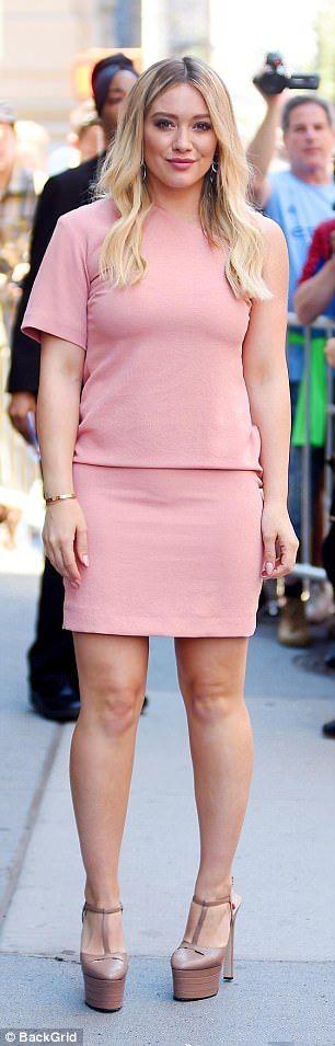 Barbie girl: The stunner looked elegant in a pink, one-shoulder dress