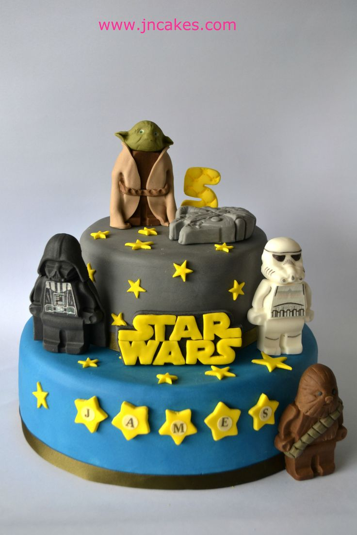 STARS WARS - 5 edible figures cake toppers decoration
