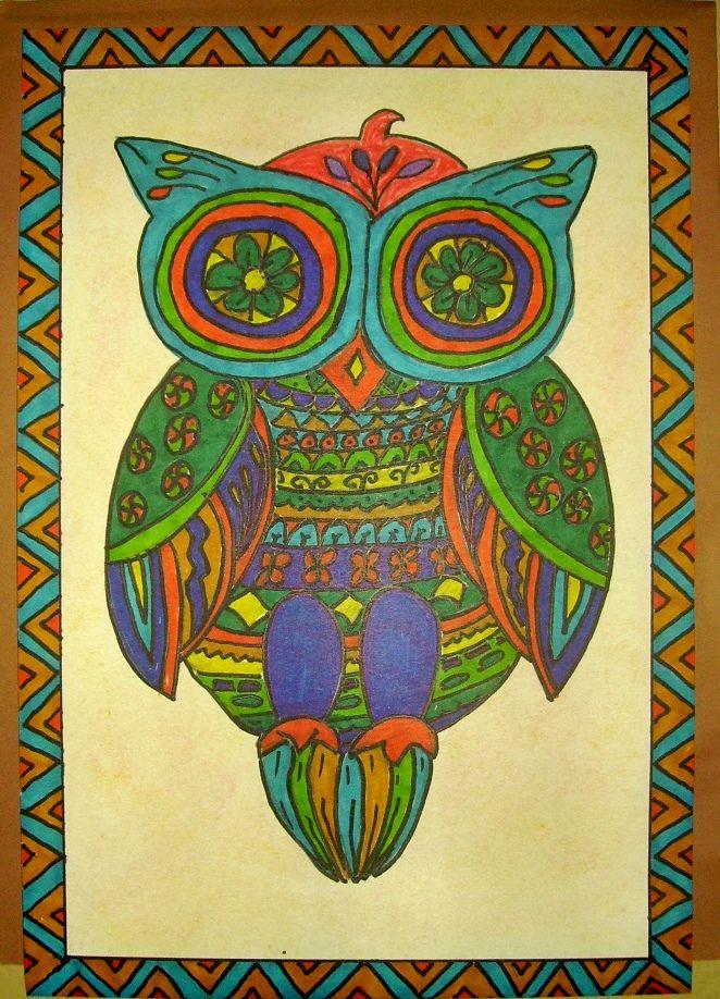 5th grade Mexican Folk Art Owls