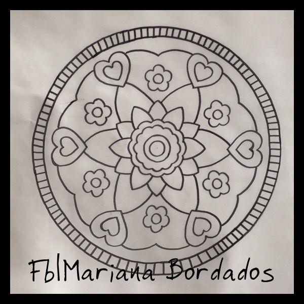 www.facebook.com/mariana.bordados1 Patron para bordar