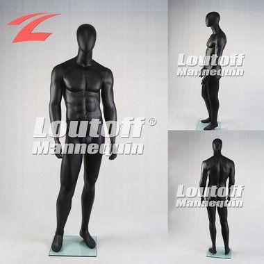 Loutoff Schaufensterpuppe Mannequin Männlich Mann Ohne Gesicht Schwarz MGM2-S
