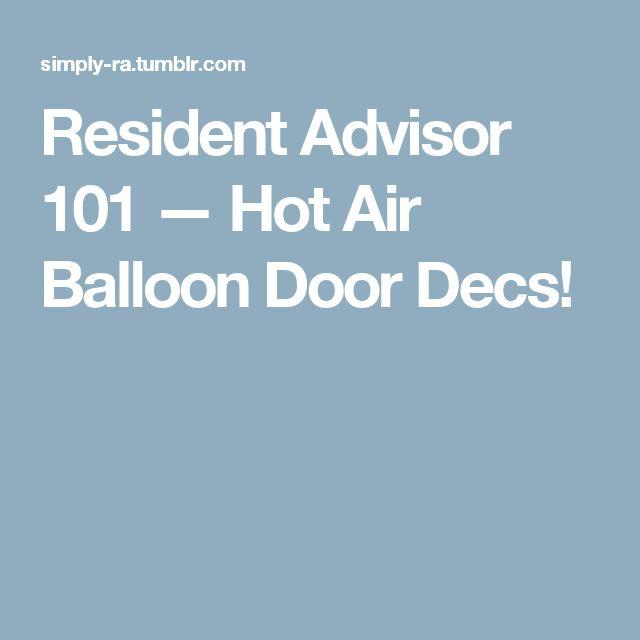 Resident Advisor 101 — Hot Air Balloon Door Decs!