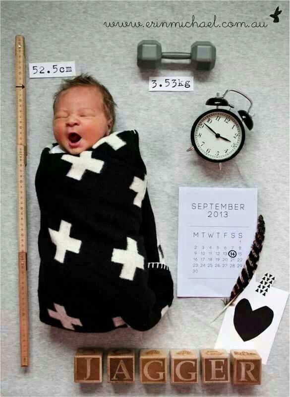 Leuk idee voor geboorte kaartje
