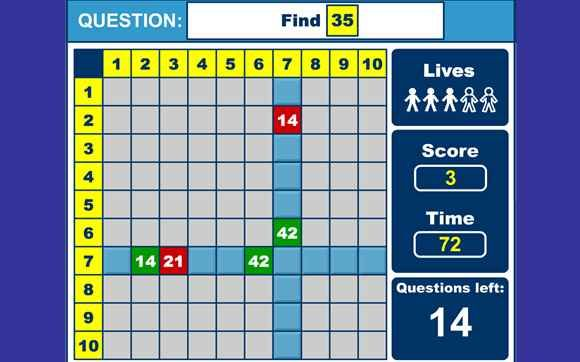 Maths games 4 times tables times tables games for 7 to 11 year olds third grade math practice - Free online times tables games ...