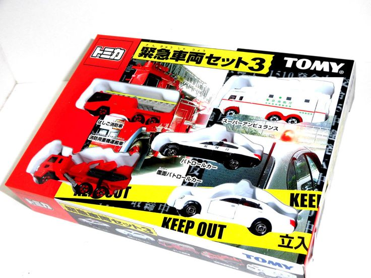 Tomy TOMICA Emergency Vehicle Set Japan Police Dept. & Fire Dept. Part 3 NEW #TakaraTomy #TOYOTANISSANHINO