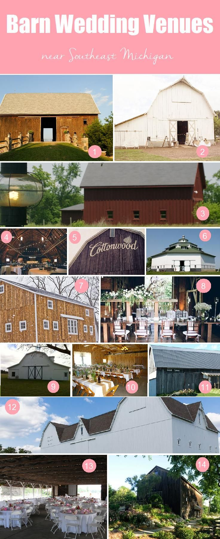 Barn Wedding Venues in Southeast Michigan