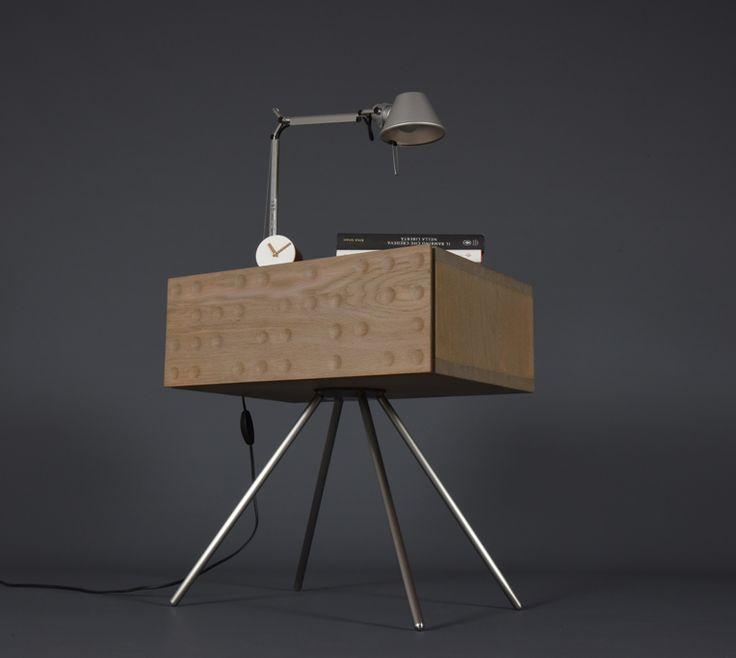 "cavallarofurniture: "" cavallarofurniture: ""  Nightstand in solid oak mid century / Bedside / Side table with solid oak 1 drawer..."