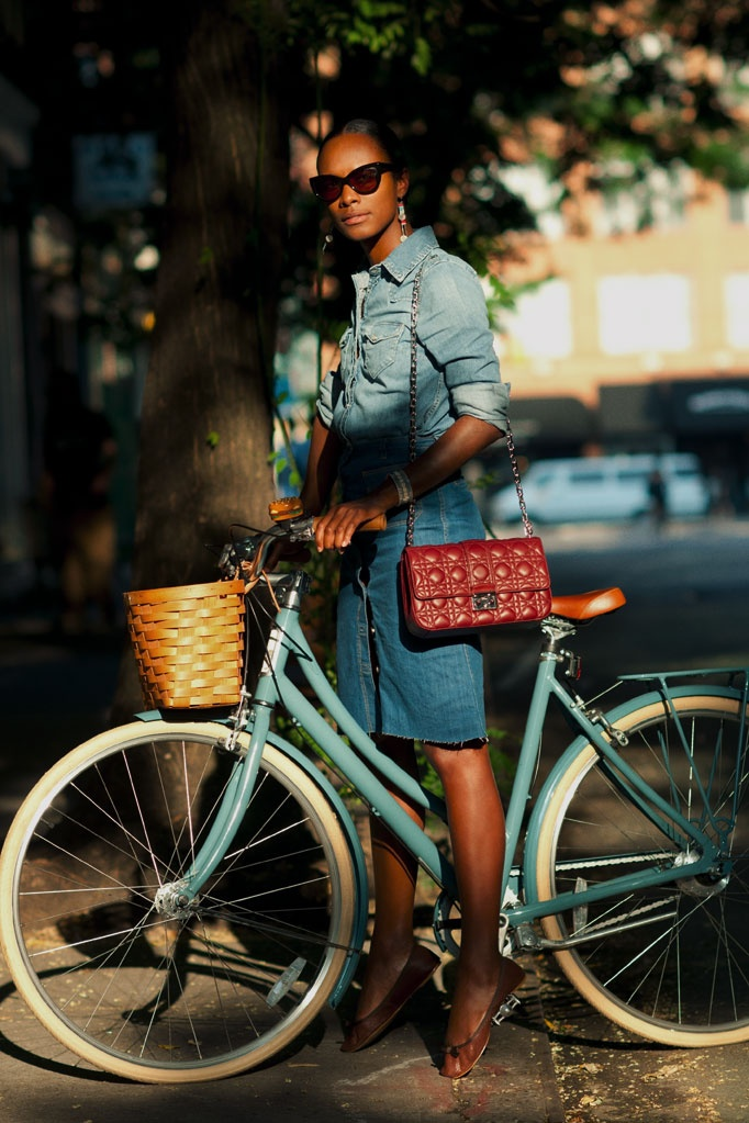 Bikes Fashion, Style, Vintage Bikes, Shala Monroque, Biker Girl, Denim Shirts, Double Denim, Bikes Riding, Lady Day