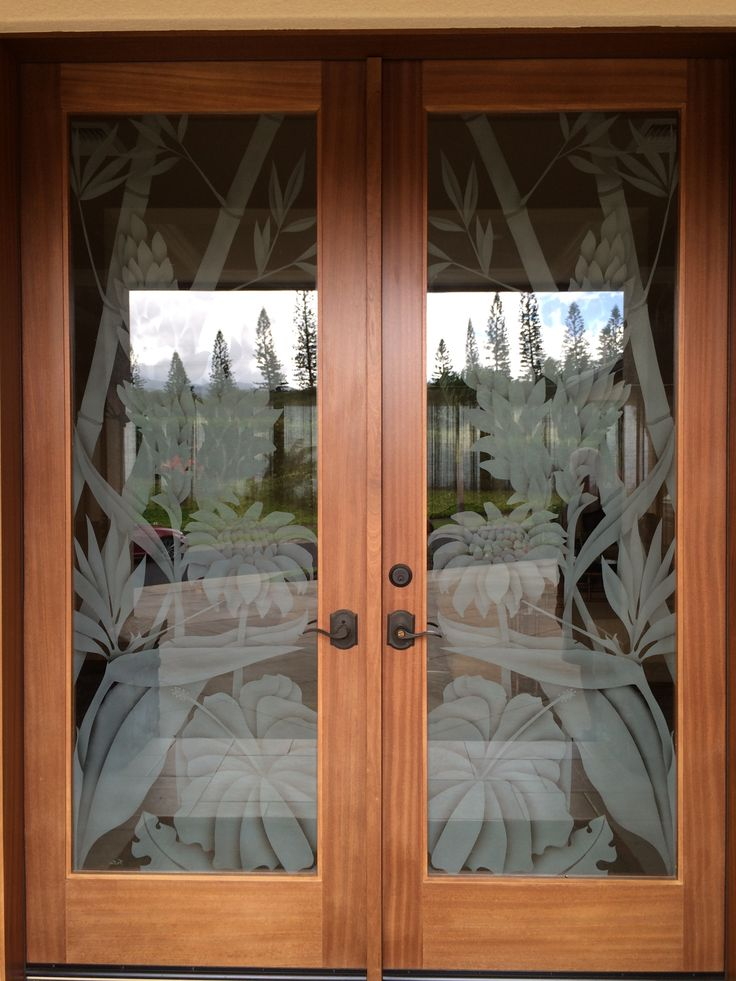 Another Spectacular Set Of Etched Glass Doors By Maui
