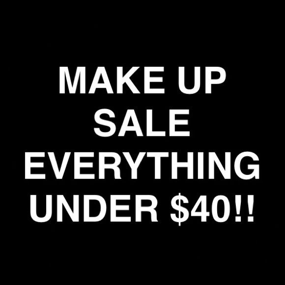 MAKE UP $40 & UNDER!! MAKE UP SALE 💄🚫NO TRADES🚫 I will negotiate a price if your offer is reasonable!!! ALL MAKE UP LISTED HAVE BEEN PURCHASED AT SEPHORA. I HATE FAKES! SO EVERYTHING I HAVE IS AUTHENTIC Anastasia Beverly Hills, Marc Jacobs, Lancôme, NARS, Smashbox, Urban Decay, Too Faced, Benefit, Becca, Tarte, Lorac etc. Other