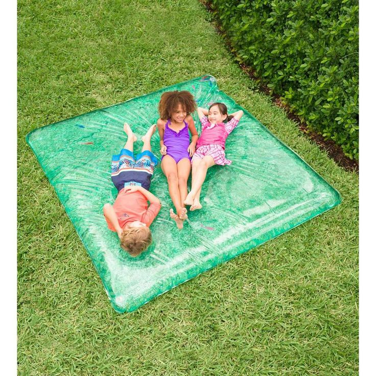 Large Rectangle Aquapod With Pretend Fish For Kids Backyard Water Play, Blue – Hearthsong