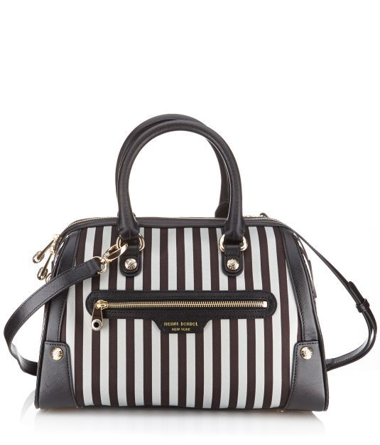 Miss Bendel Barrel Bag Brown White Stripe Henri Must Have Getgifted Bags Pinterest And Handbags