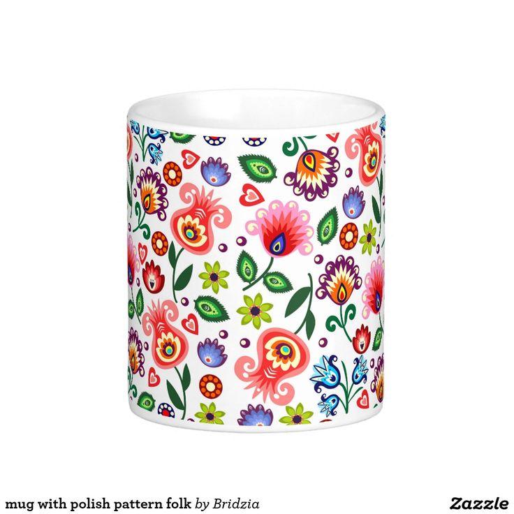 mug with polish pattern folk