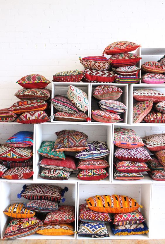Handmade Bohemian Moroccan Kilim Pillows / Baba Souk