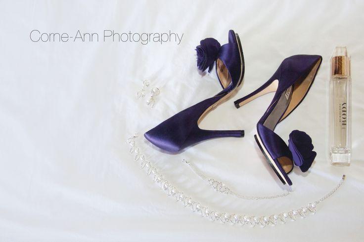 wedding brides details purple shoes http://corneannphotography.wix.com/corneannphotography