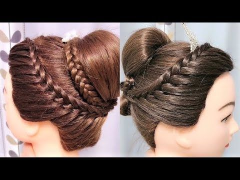 Bun At The Top Hair Down In The Back Beautiful Hairstyles Compilation 2019 Youtube Down Hairstyles Hair Styles Beautiful Hair