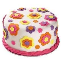 pasteles con fondant - Buscar con Google: White Cake, Fondant Cake, Cake Decor, Cups Cake, Neon Colors, Rolls Fondant, Colors Cake, Fondant Flower, Flower Cake