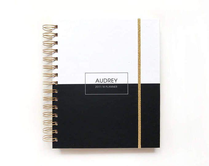 2017 gepersonaliseerde planner strepen | 2017 planner aangepaste agenda student kalender per planner dagelijkse planner afstuderen gift harde omslag
