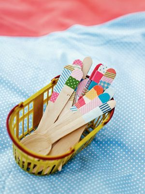 DIY Cutlery with washi tape
