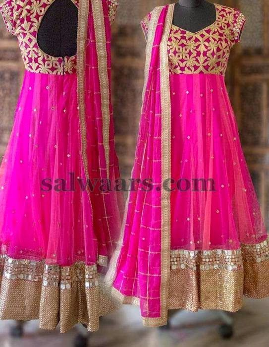 Pink Mirror Work Salwar | Indian Dresses