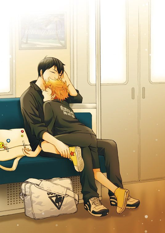 Cute kagehina fanarts will be the death of me