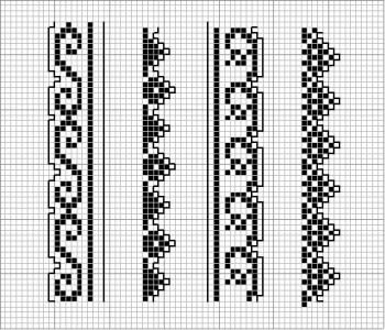 Border 41 | Free chart for cross-stitch, filet crochet | Chart for pattern - Gráfico