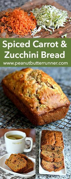 A quick bread packed with tons of cinnamon and nutmeg, carrots, zucchini, orange zest, dried cranberries, walnuts and coconut oil. A great way to use summer zucchini!