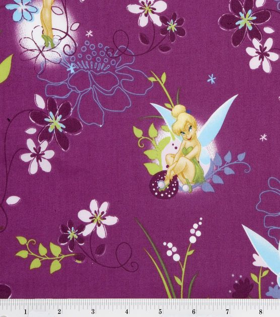 Disney Licensed Cotton Fabric Tinkerbell