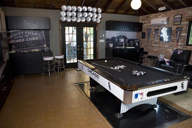 Detroit Lions Man Cave Ideas : Pool tables man caves chicago white sox go