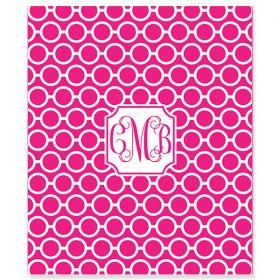 Circle Chain Personalized Velveteen Plush Blanket Throw