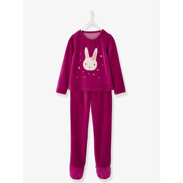 Vertbaudet Pyjama Velours Fille avec Pieds