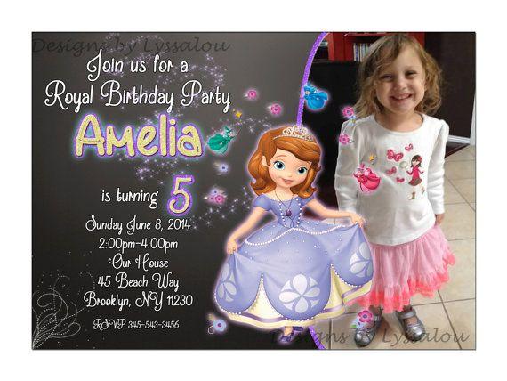 Princess Sofia Invitation Princess Party by DesignsbyLyssaLou, $6.99