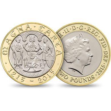 800th Anniversary of Magna Carta 2015 UK £2