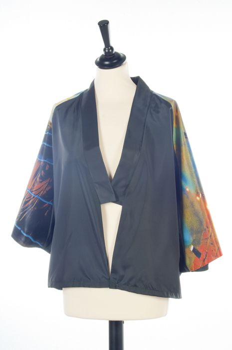 For a contemporary look Kimono style for adults, with cool print for sleeves from bannermaterial.
