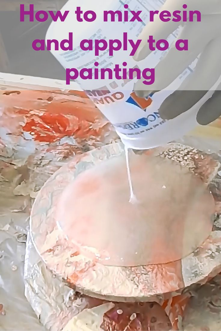 Learn how to mix resin and apply to a painting.