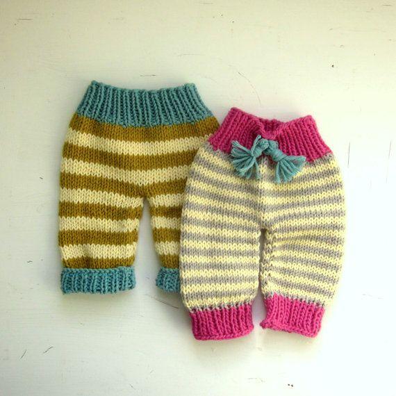 knitting pattern newborn baby pants PDF pattern by sweetbabydolly on Etsy  #knitting