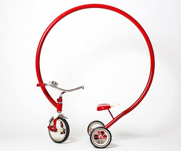 """Texas-based artist Sergio Garcia's 50""""-tall tricycle"""