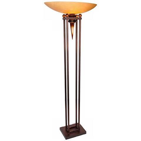 Van Teal Triumphant Torchiere Floor Lamp - #2C313 | Lamps Plus