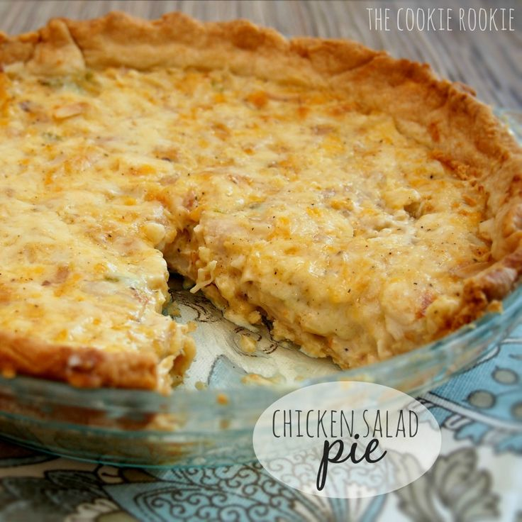 chicken salad pie...you will never look at chicken salad the same way! delicious comfort food at its finest!